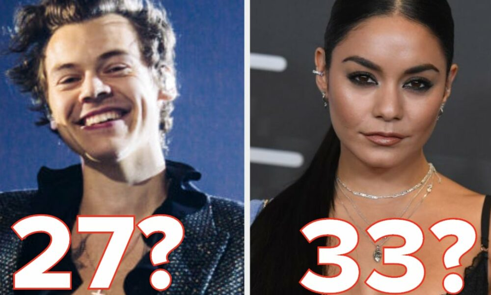 Celebrities Can You Figure Out Just How Old These Celebrities Actually Are?